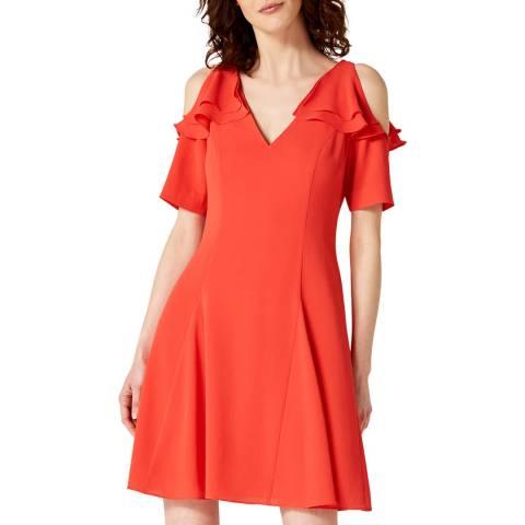 Damsel In A Dress Red Juna Ruffle Dress