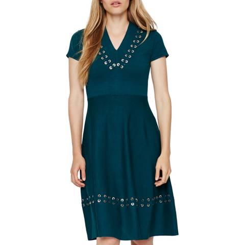 Damsel In A Dress Teal Etta Knit Dress