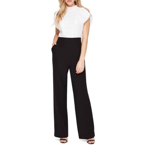 Damsel In A Dress Black/White Lupita Jumpsuit