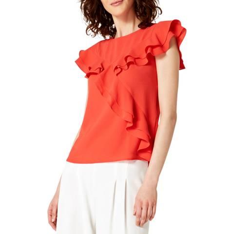 Damsel In A Dress Red Kiera Ruffle Top