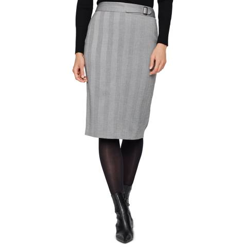 Damsel In A Dress Black/White Hettie Pencil Skirt