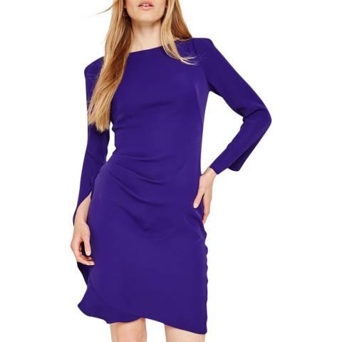 Damsel In A Dress Deep Purple Carrera Frill Dress