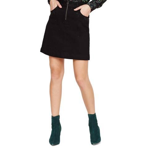 Damsel In A Dress Black Lainey Stud Stretch Skirt