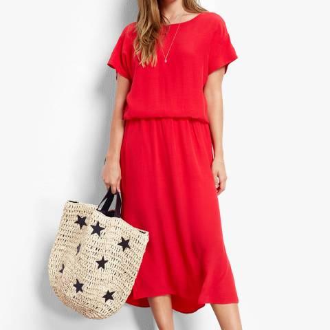 hush Ski Red Lace Back Dress