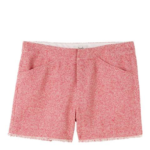 hush Pink Frayed Tweed Shorts