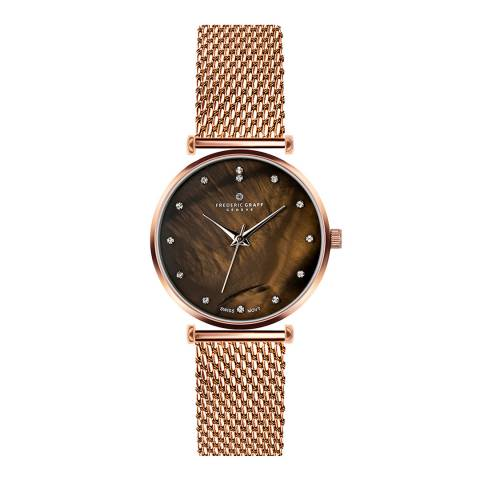 Frederic Graff Women's Rose Gold Mont Brule Mesh Watch 36mm