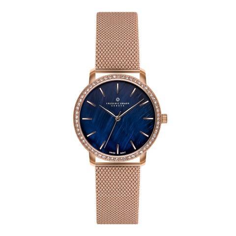Frederic Graff Women's Rose Gold Monte Leone Mesh Watch 36mm