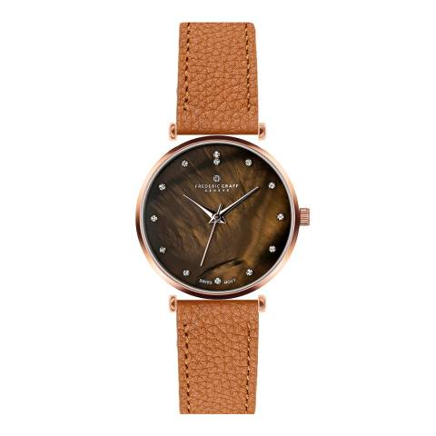 Frederic Graff Women's Ginger Brown Mont Brule Leather Watch 36mm