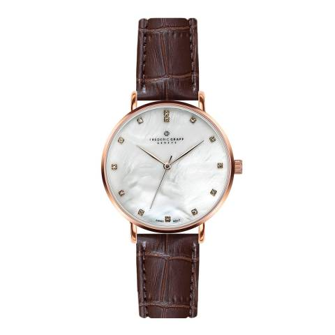 Frederic Graff Women's Brown La Singla Leather Watch 38mm