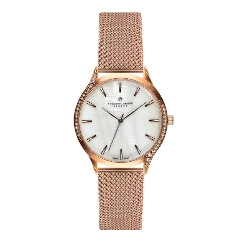 Frederic Graff Women's Rose Gold Clariden Mesh Watch 36mm
