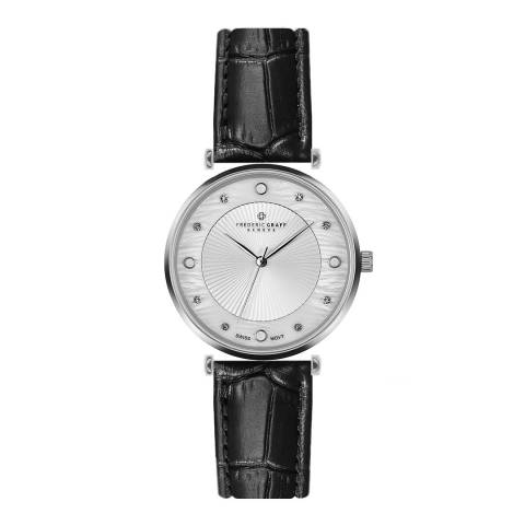 Frederic Graff Women's Black Jungfrau Croc Leather Watch 38mm