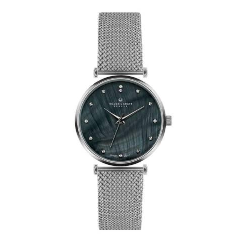 Frederic Graff Women's Silver Mont Dolent Mesh Watch 38mm