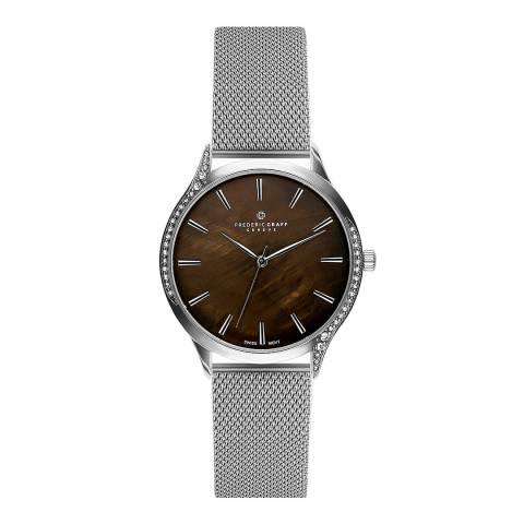 Frederic Graff Women's Silver Basodino Mesh Watch 38mm
