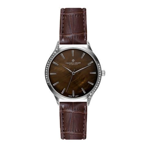 Frederic Graff Women's Brown Basodino Croc Leather Watch 38mm