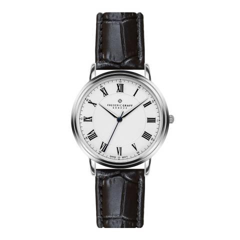 Frederic Graff Men's Black Weisshorn Croc Leather Watch 40mm