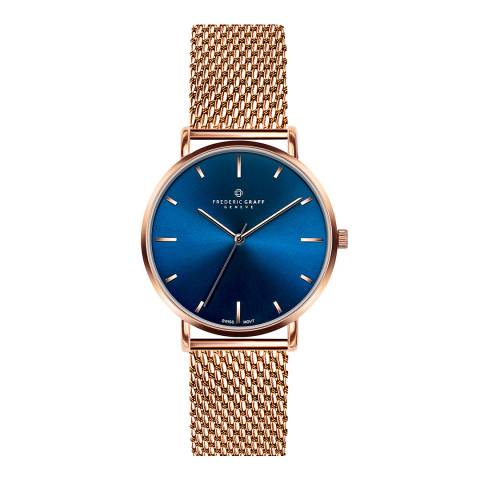 Frederic Graff Unisex Rose Gold Mont Fort Mesh Watch 40mm