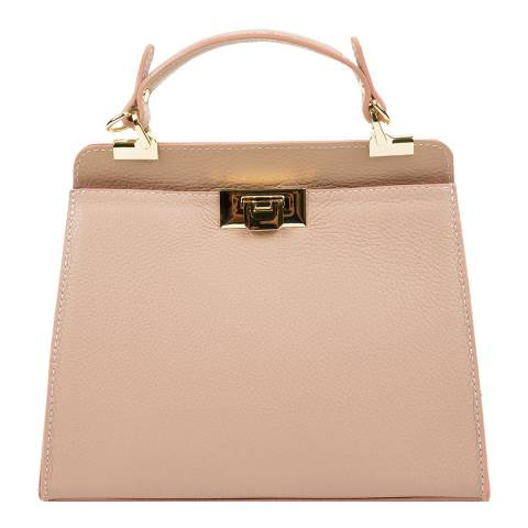 Luisa Vannini Cream Leather Tote Bag