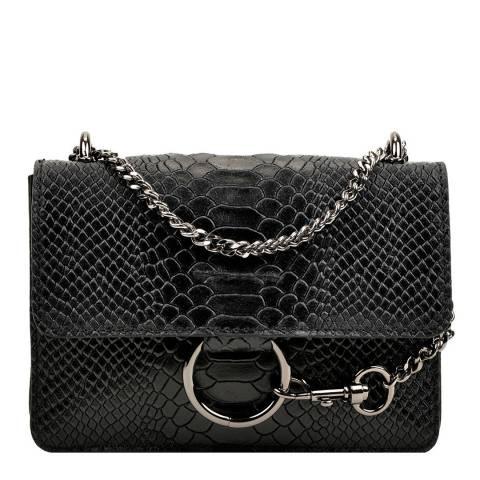 Carla Ferreri Black Leather Shoulder Bag
