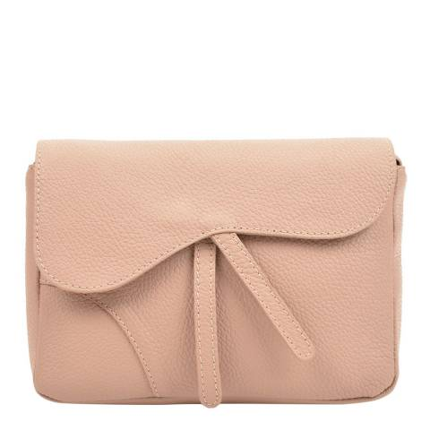Carla Ferreri Cream Leather Crossbody Bag