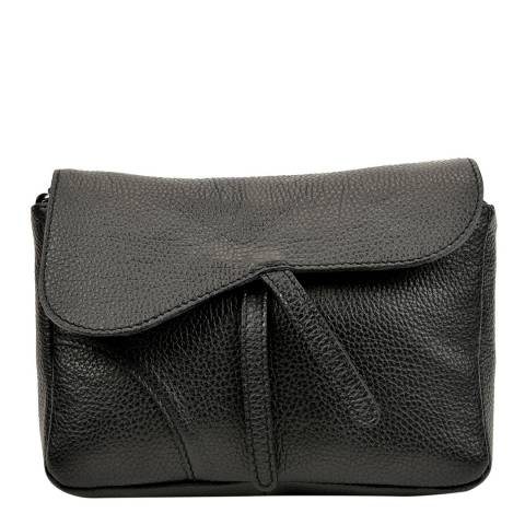 Carla Ferreri Black Leather Crossbody Bag