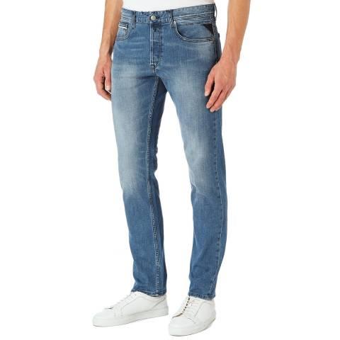 Replay Light Denim Grover Straight Stretch Jeans