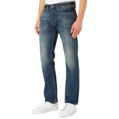 Replay Blue Denim Newbill Comfort Fit Jeans