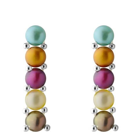 Mitzuko Multicolour Freshwater Pearl Earrings 3-4mm