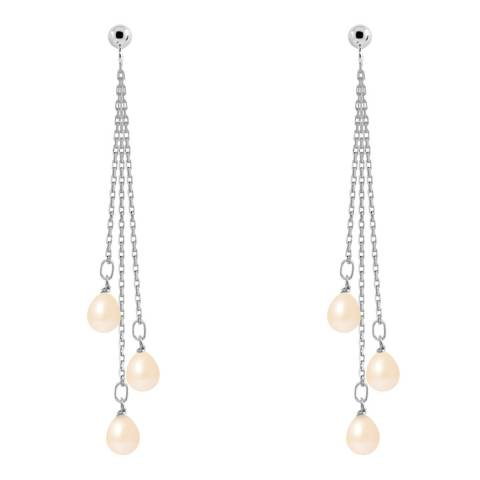 Mitzuko Natural Pink Falling Pear Pearl Earring 5-6mm