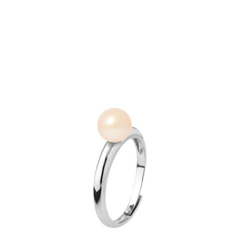Mitzuko Natural Pink Silver Round Pearl Ring 6-7mm