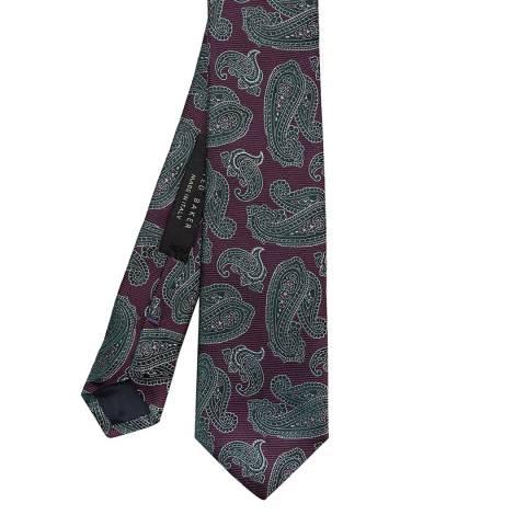 Ted Baker Purple Paisley 7cm Tie