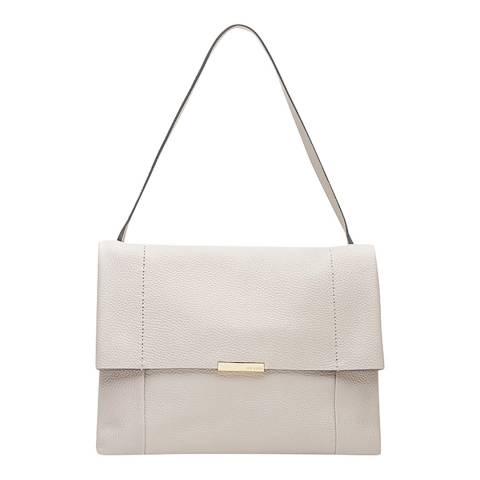Ted Baker Grey Unlined Soft Leather Shoulder Bag