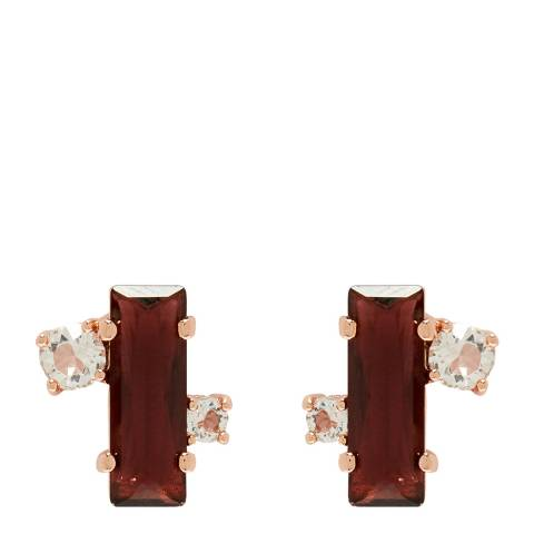 Ted Baker Oxblood Crystal Stud Earring