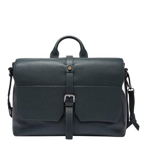 Ted Baker Dark Green Leather Satchel Bag