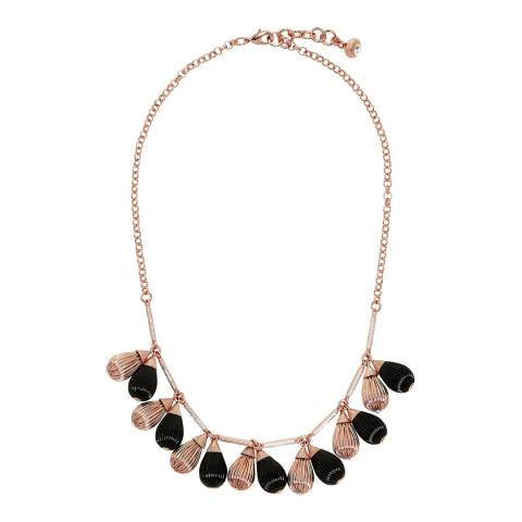 Ted Baker Black Plisse Drop Necklace