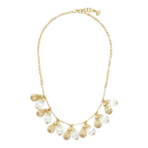 Ted Baker Gold Polina Plisse Drop Necklace