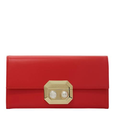 Ted Baker Bright Orange Pearl Lock Front Flap Matinee
