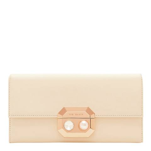 Ted Baker Natural Pearl Lock Front Flap Matinee