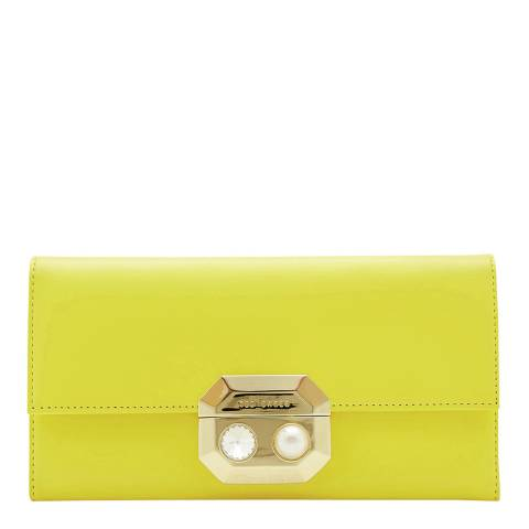 Ted Baker Yellow Pearl Lock Front Flap Matinee