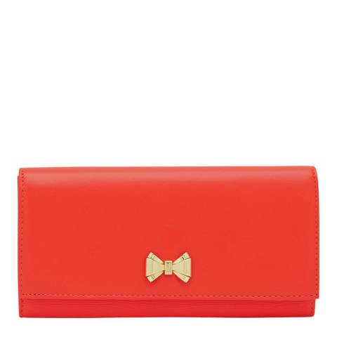 Ted Baker Bright Orange Curved Bow Fold Matinee
