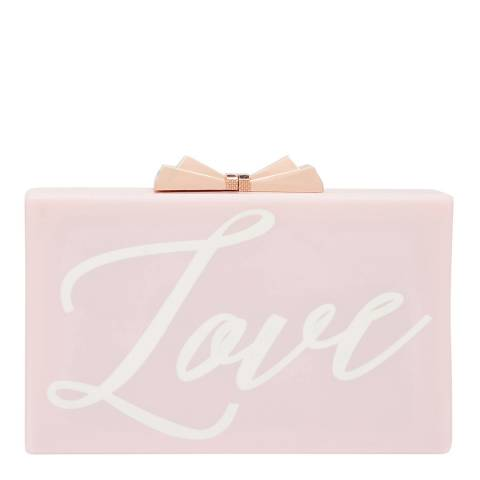Ted Baker Baby Pink Glitter Word Resin Clutch