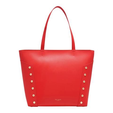 Ted Baker Bright Red Tamiko Studded Edge Shopper Bag