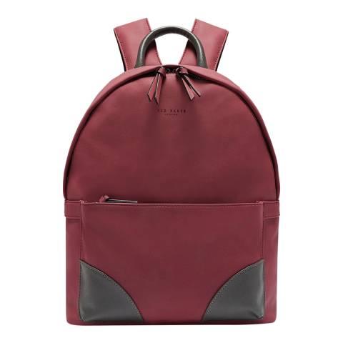 Ted Baker Red Nubuck Pu Backpack