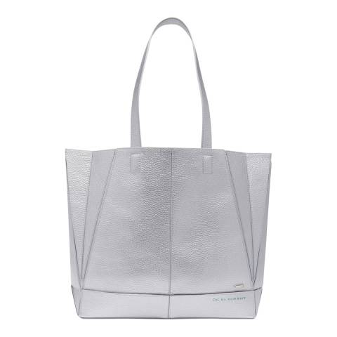 Ted Baker Silver Litchi Shopper Bag