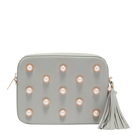 Ted Baker Mid Grey Pearl Embellished Camera Bag