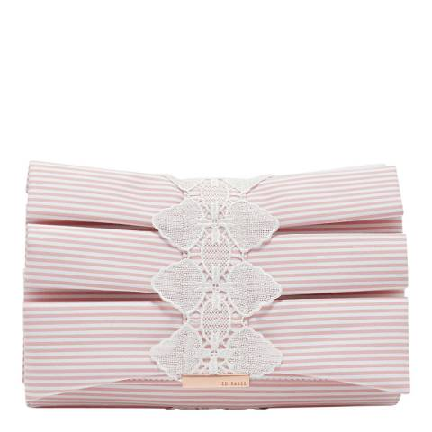 Ted Baker Pink Biancaa Box Pleat Bow Evening Bag