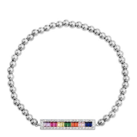Liv Oliver Silver Multi Colour Stone Bracelet