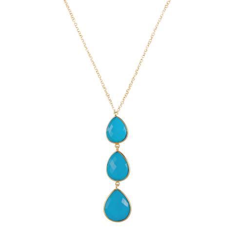 Liv Oliver Turquoise Drop Pendant Necklace
