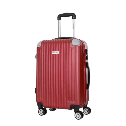 Travel One Burgundy 8 Wheel Tecapa 2 Suitcase 56cm