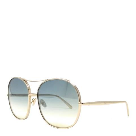 Chloe Women's Gold/Green Navigator Sunglasses 61cm