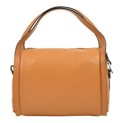 Luisa Vannini Brown Top Handle Bag